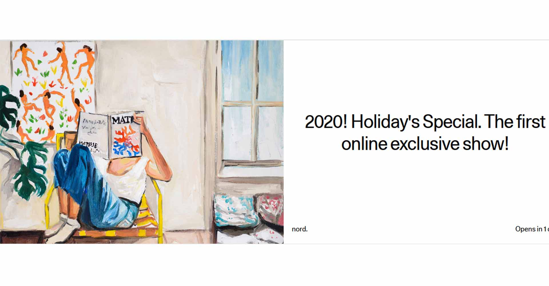 2020! Holiday's Special. The first online exclusive show!